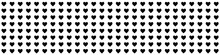 Pattern Of Black Hearts On A White Background. Valentine's Day. Illustrative Graphics.
