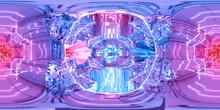 Full 360 Degree Equi Rectangular Seamless Hdr Panorama Of Technology Science Fiction Design 3d Render Illustration