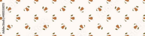 Slika na platnu Seamless background beetle insect gender neutral baby border pattern