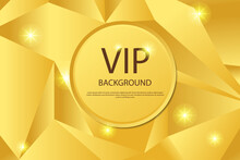 VIP Invitation Design Template. Vector Golden Ring And VIP Invitation Text On Gold Luxury Background.