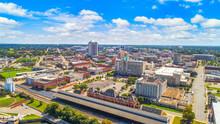 Montgomery, Alabama, USA Downtown Drone Skyline Aerial