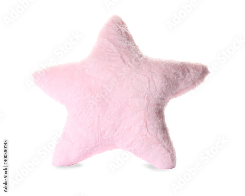 Photographie Soft pillow in shape of star on white background