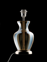 Glass Table Lamp On Black Background