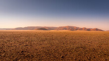 Beautiful And Colorful Mountains Of Namibia At Sunset.