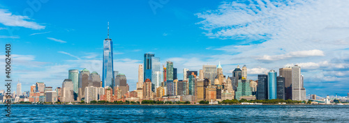 Manhattan panoramic skyline view. New York City, USA.