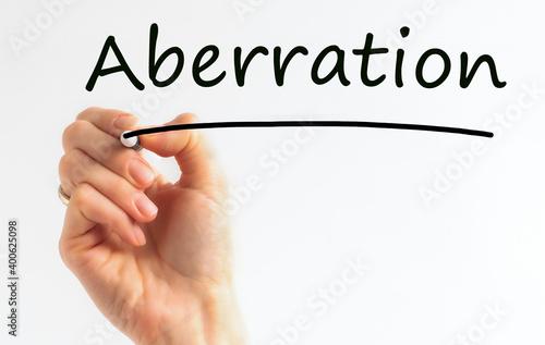 Obraz na plátně Hand writing inscription Aberration with marker, concept, stock image