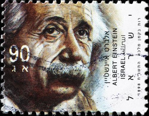 Canvas Print Albert Einstein on israeli postage stamp