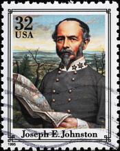 Confederate General Joseph E.Johnston On American Stamp