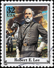 Confederate General Robert E.Lee On American Stamp