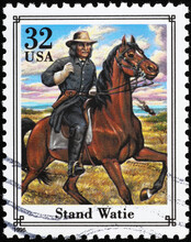 Confederate General Stand Watie On American Stamp