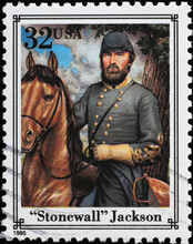 Confederate General Stonewall Jackson On American Stamp