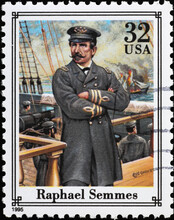 Confederate Navy Officer Raphael Semmes On American Stamp