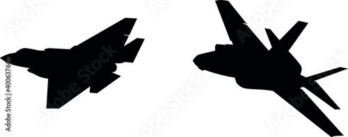 Billede på lærred Detailed vector illustration of an Air Force stealth F-35 Lightning II fighter jet
