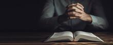 Prayer Hands On A Holy Bible