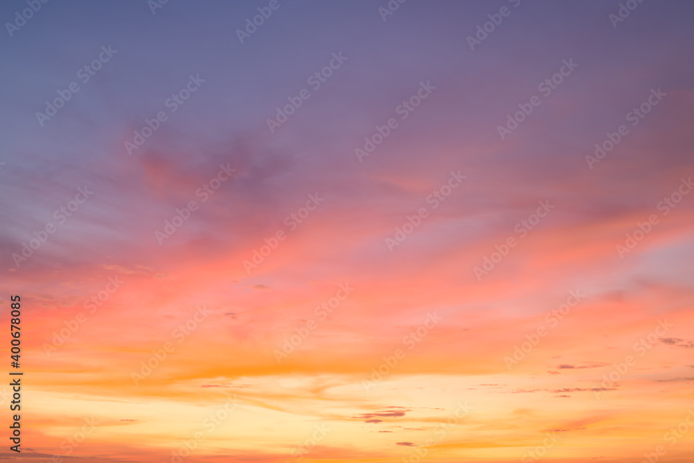 Obraz Beautiful clouds and sunset sky background fototapeta, plakat
