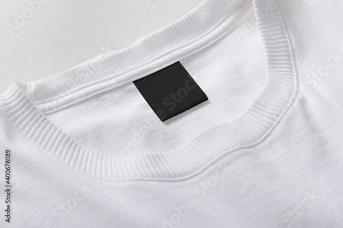 Billede på lærred Logo mockup T-Shirt neck label