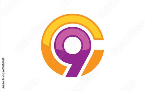Slika na platnu Illustration vector graphic of letter C9 icon logo template design