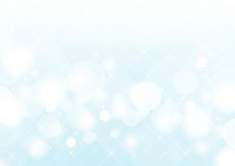 クロスフィルター風の輝き 白い玉ボケ 背景素材(青緑)