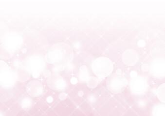 クロスフィルター風の輝き 白い玉ボケ 背景素材(ピンク)