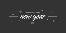 We Wish You A Happy New Year 2021 - Geschenkkarte, Dunkel