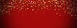Festive bokeh on a red background. Merry christmas and Happy New Year. Backgrounds for decoration. the yellow stars