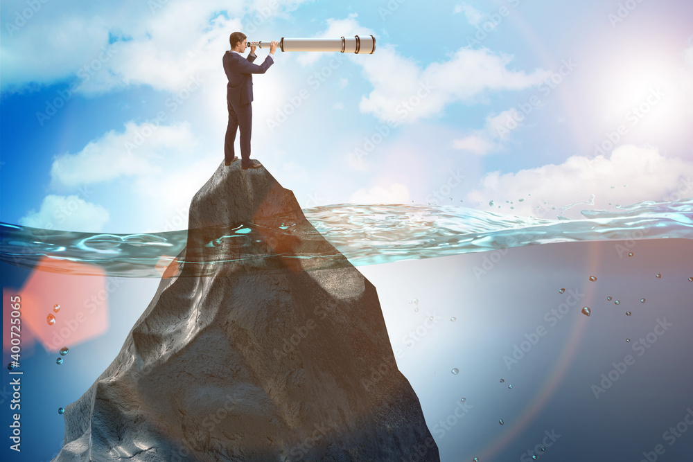 Fototapeta Businessman in forecasting and business planning concept