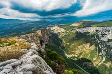 View At Gorges Du Verodon, Alpes De Haute Provence, The Verdon Natural Regional Park, Provence, France, Europe