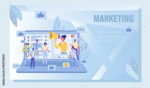 Fotografija Digital Social Media Advertising Marketing Guide
