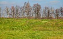 Bagration Fleches At Borodino Field Near Borodino Village. Russia