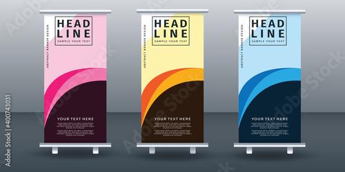 Vászonkép Roll up banner set design template design. Vector illustration