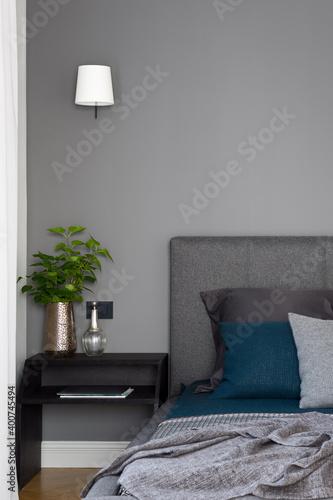 Fototapeta Stylish bedroom interior obraz