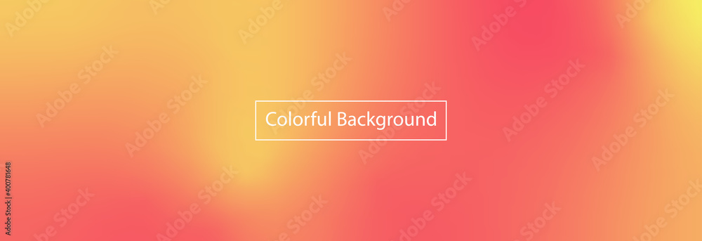 Fototapeta Abstract blurred gradient mesh background in bright red, orange colors. Colorful smooth banner template