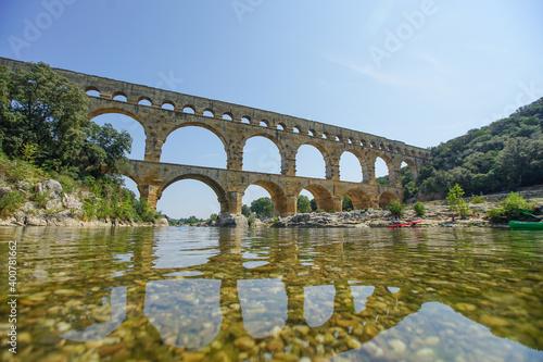 Fotografering Pont du Gard Aquädukt in Frankreich