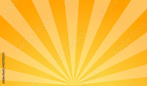 Obraz na plátne Bright background of sun rays with yellow dots