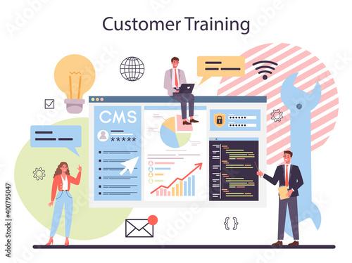 Fotografering CMS customer training. Content management system. Creation