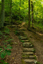 Sone Staircase On The Hiking Trails.  Shawnee National Forest, Illinois.