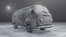 Versteinerter Camping Bus