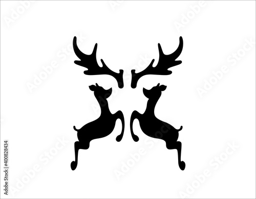 Foto Deer antler ilustration logo vector template