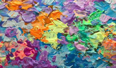 Umjetnost Apstraktno slikanje mrlja mrljama od akrila i akvarela. Pozadina vodoravne teksture pastelne boje.
