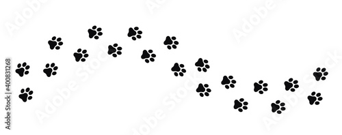 Fototapeta Dog and cat paw print vector icon