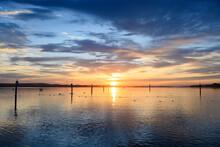 Lake Constance At Moody Sunrise