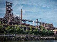 Belgium, Wallonia, Metal Industry On Bank Of Meuse