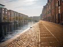 Denmark, Copenhagen, Rows Of Residential Buildings Along Christianshavn Canal