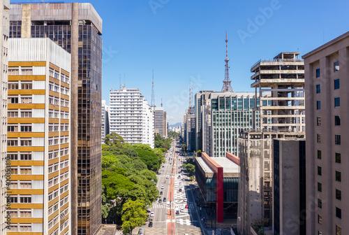 Tela Paulista Avenue near Trianon Park, Sao Paulo, Brazil