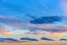 Blue Clouds At Dusk