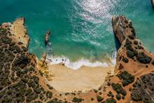 Drone View Of Empty Praia Do PontalÔøΩbeach