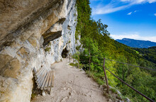 Austria, Upper Austria, BadÔøΩGoisernÔøΩam Hallstattersee, Steep Mountainside Trail Of Eternal Wall