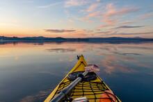 Tramonto Sul Lago Di Bolsena In Kayak
