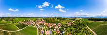 Germany, Baden-Wurttemberg, Brackenheim, Aerial View Of Countryside Town In Summer