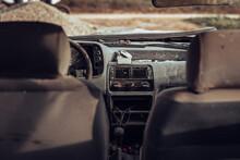 Dashboard Of Abandoned Car
